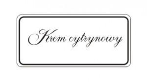 Etykiety krem cytrynowy