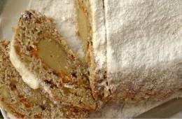 Stollen z marcepanem i bakaliami (bez glutenu)