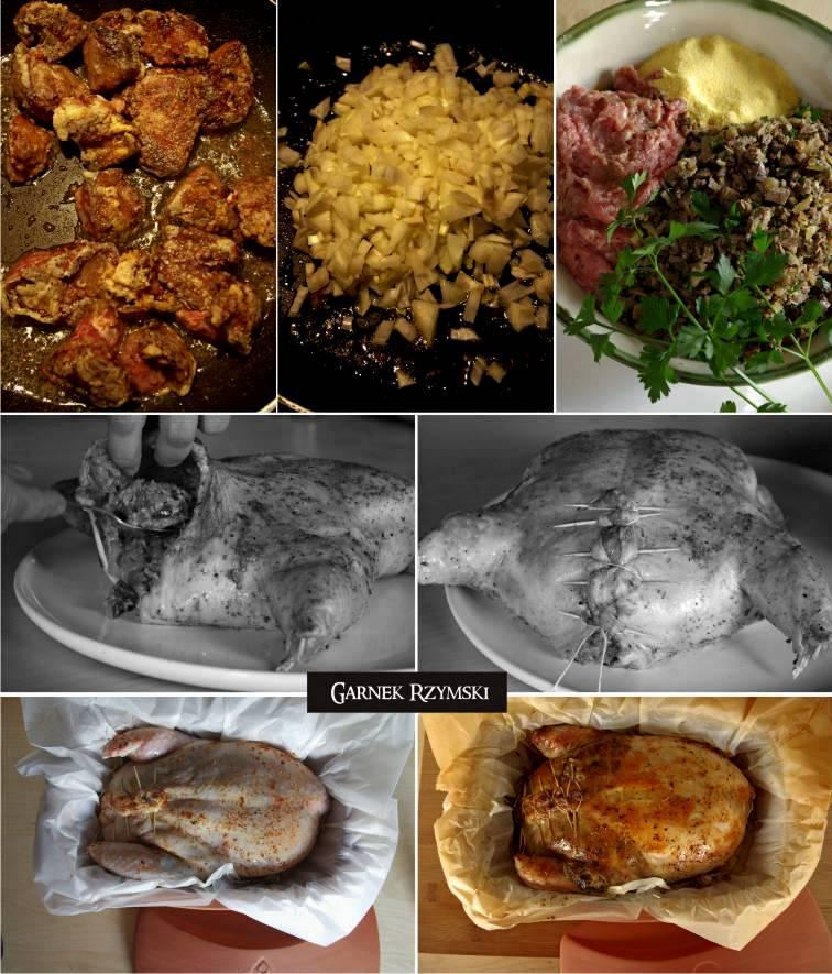 4_ Luzowany kurczak nadziewany wątróbką