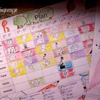 Witaj szkoło: Plan lekcji dla starszych dzieciaków do wydruku
