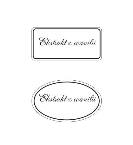 etykiety_ Ekstrakt z wanilii
