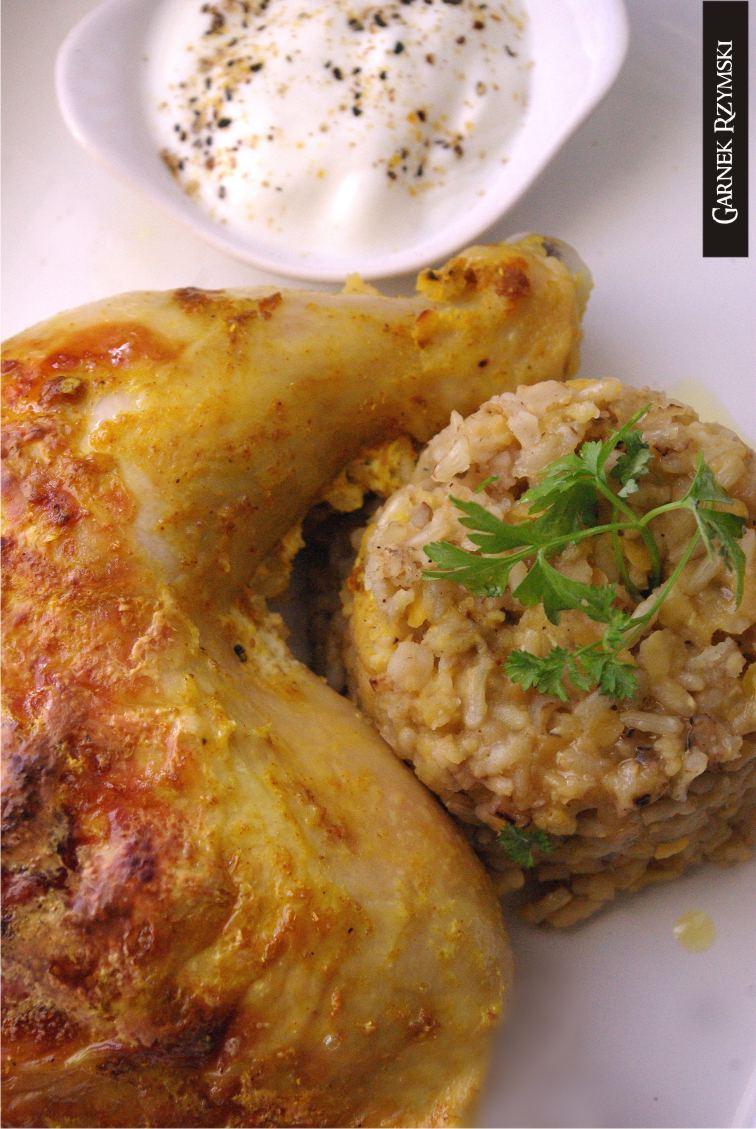 4_ Kurczak marynowany i ryż z soczewicą