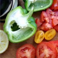 Jesienne warzywa z kaszą kuskus