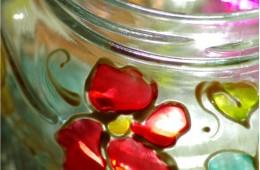 Lampiony i barwne witraże + wzór do wydruku
