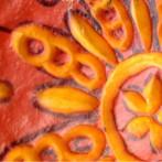 Lampion z dyni zdobiony reliefem + wzór do wydruku