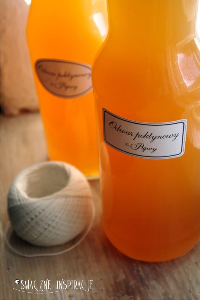 Pigwa – odwar pektynowy + etykiety na butelki