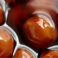 Karkówka w marynacie wiśniowej z kaszą jaglaną